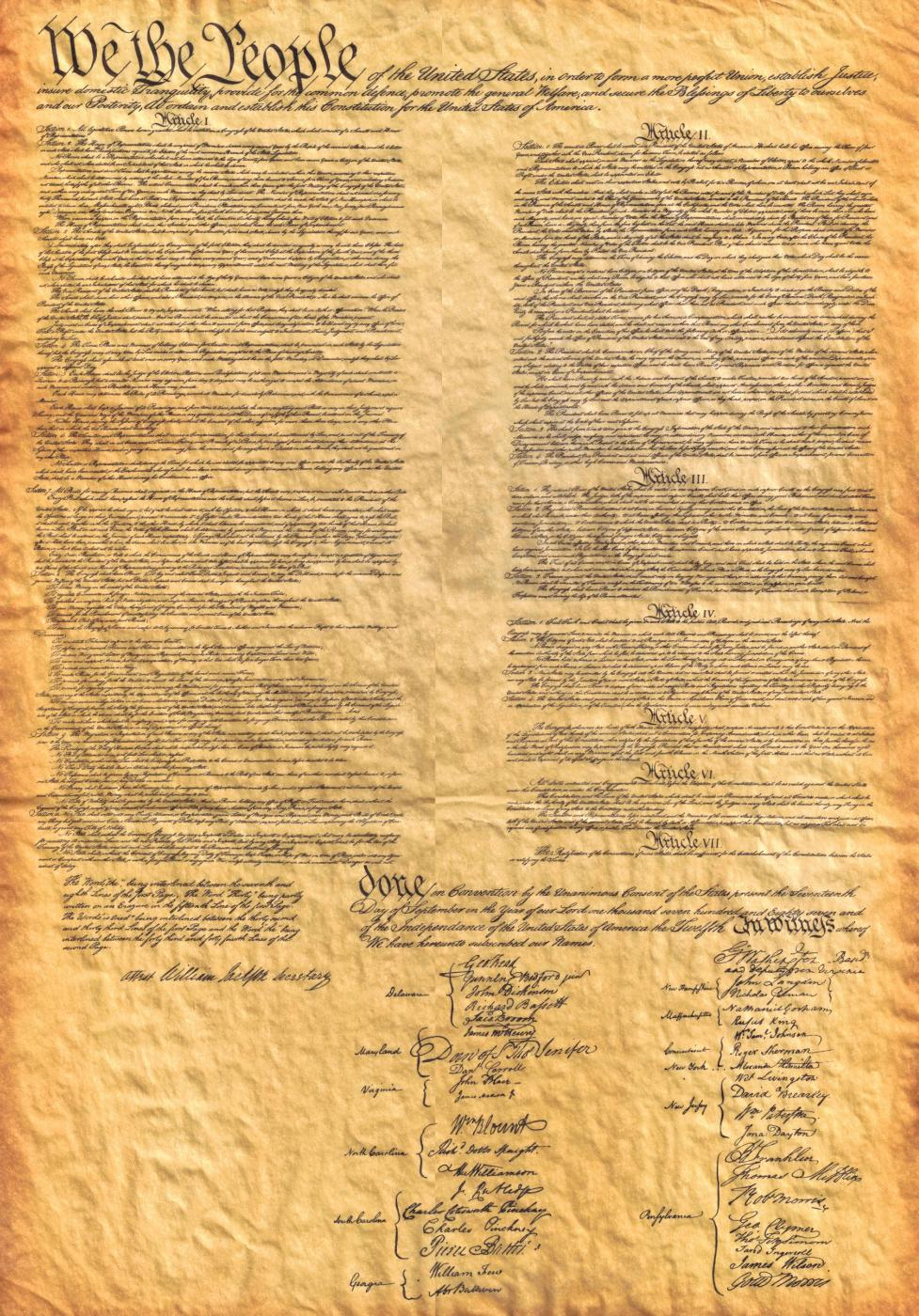 Constitution for the United States  We the People